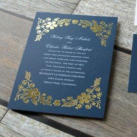 Brilliant Boho - Gold - Foil Invitation