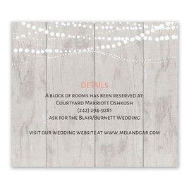Rustic Lights - Information Card