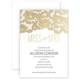 Miss to Mrs. Foil Bridal Shower Invitation