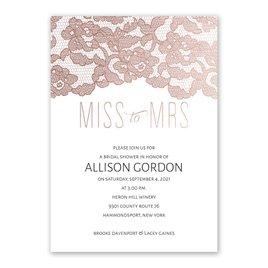 Miss to Mrs. - Rose Gold Foil - Bridal Shower Invitation