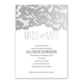 Miss to Mrs. - Silver Foil - Bridal Shower Invitation