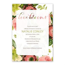 Love Blooms - Bridal Shower Invitation