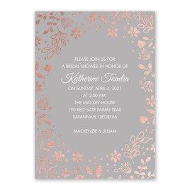 Boho Babe - Rose Gold Foil - Bridal Shower Invitation