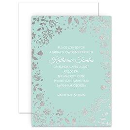 Boho Babe Foil Bridal Shower Invitation