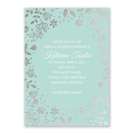 Boho Babe - Silver Foil - Bridal Shower Invitation