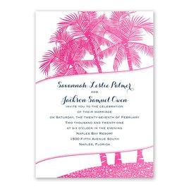 Malibu I Do - Fuchsia - Foil Invitation