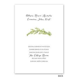 Watercolor Greenery - Invitation