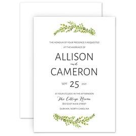 Wedding Invitations: Watercolor Greenery Invitation