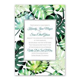 Brilliant Palms - Silver -  Foil Invitation