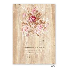 Rustic Romance - Invitation