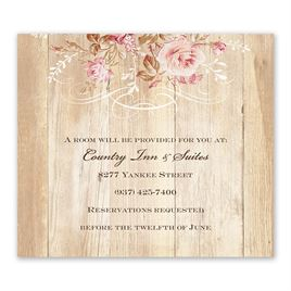 Wedding Reception and Information Cards: Rustic Romance Information Card
