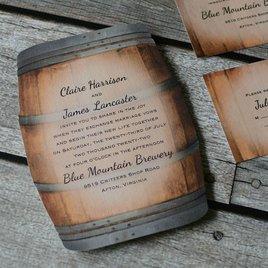 Wine Barrel - Invitation