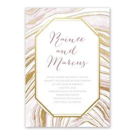 Modern Marble - Gold - Foil Invitation