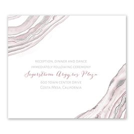 Modern Marble - Silver - Foil Information Card