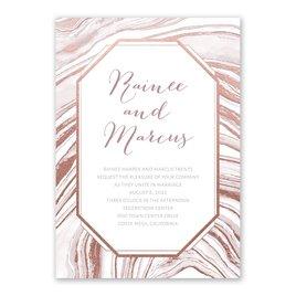 Modern Marble - Rose Gold - Foil Invitation