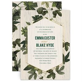 Shabby Chic Wedding Invitations: 