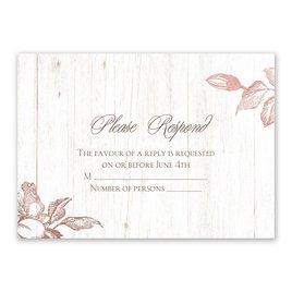 Gardenia Glow - Rose Gold - Foil Response Card