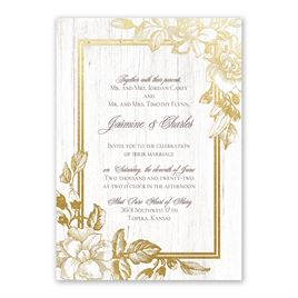 Gardenia Glow - Gold - Foil Invitation
