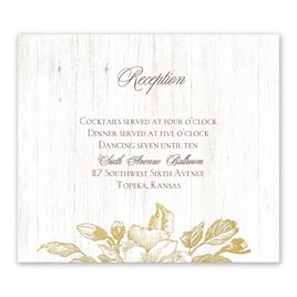 Gardenia Glow - Gold - Foil Information Card