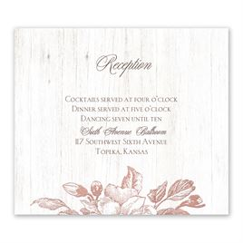 Gardenia Glow - Rose Gold - Foil Information Card