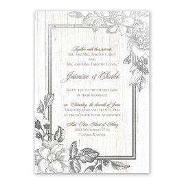 Gardenia Glow - Silver - Foil Invitation