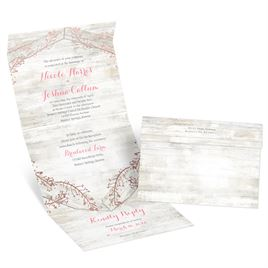 Weathered Glam - Rose Gold - Foil Seal and Send Invitation