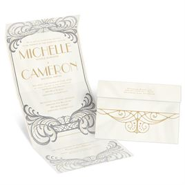Royal Enchantment - Silver - Foil Seal and Send Invitation