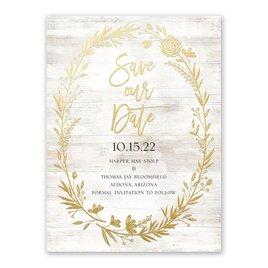 Farmhouse Frame - Gold - Foil Save the Date Card
