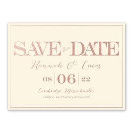 Our Love - Ecru - Foil Save the Date Card