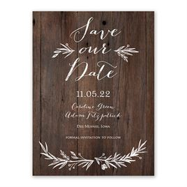 Sweetly Sketched Save the Date Card