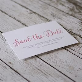 A Classic Date - Letterpress Save the Date Card