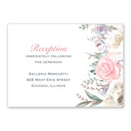 Pale Roses - Rose Gold - Foil Reception Card