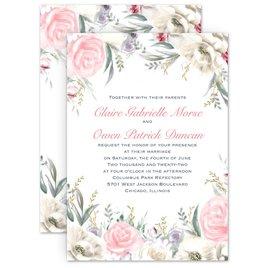 Rose Wedding Invitations: Pale Roses Foil Invitation