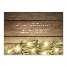 Autumn/Fall: Glowing Greenery Reception Card