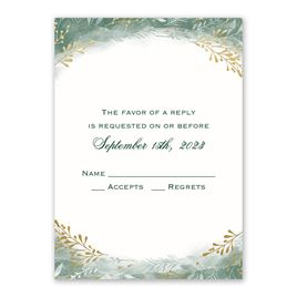 Botanical Silhouettes -  Gold - Foil Response Card