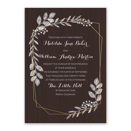 Botanical Frame Foil Invitation