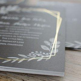 Botanical Frame -  Gold - Foil Invitation