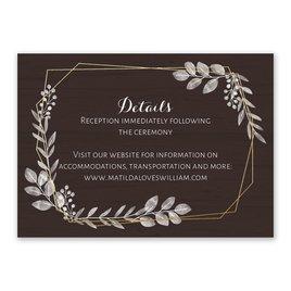 Autumn/Fall: Botanical Frame Foil Reception Card