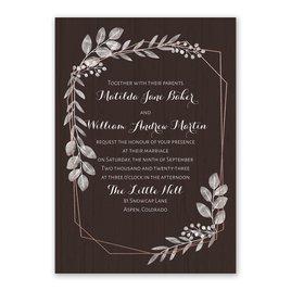 Botanical Frame -  Rose Gold - Foil Invitation