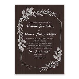 Botanical Frame -  Silver - Foil Invitation