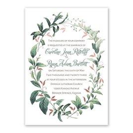 Vintage Botanical - Rose Gold - Foil Invitation