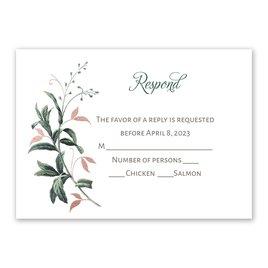 Vintage Botanical - Rose Gold - Foil Response Card