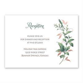 Vintage Botanical - Rose Gold - Foil Reception Card