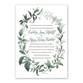 Vintage Botanical - Silver - Foil Invitation
