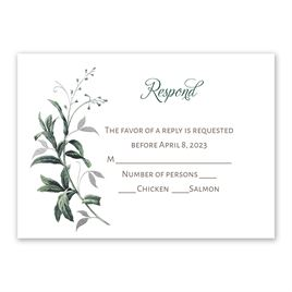 Vintage Botanical - Silver - Foil Response Card