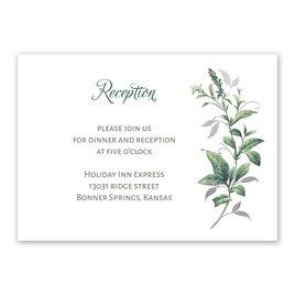 Vintage Botanical - Silver - Foil Reception Card