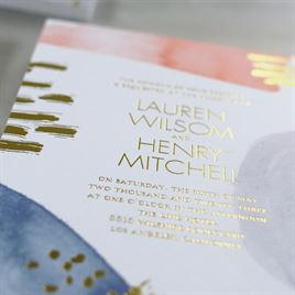 Work of Art - Gold - Foil Invitation