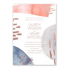 Work of Art - Rose Gold - Foil Invitation