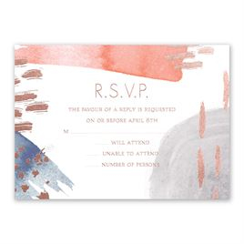 Work of Art - Rose Gold - Foil Response Card