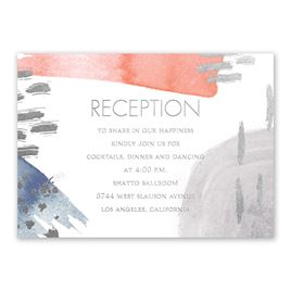 Work of Art - Silver - Foil Reception Card